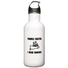 Paddle Faster Hear Ban Water Bottle