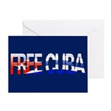 """Free Cuba Bubble Letters"" Greeting Card"
