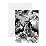 Retro Dental Prints Greeting Cards (Pk of 20)