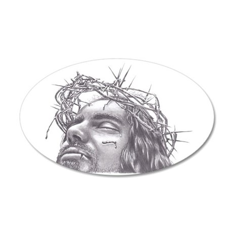 Crown of Thorns 35x21 Oval Wall Decal