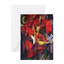 The Fox by Franz Marc Greeting Card