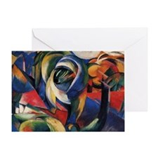 The Mandrill by Franz Marc Greeting Card