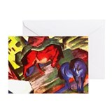 Horses by Franz Marc Greeting Card
