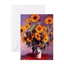 Sunflowers by Monet Greeting Card