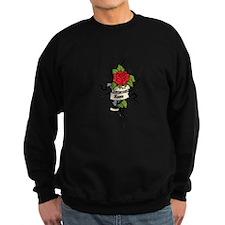 Customized Rose on Tattoo Background Sweatshirt