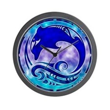 Dolphin & 4 Winds Wall Clock