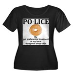 My Police thingy Women's Plus Size Scoop Neck Dark