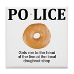 My Police thingy Tile Coaster