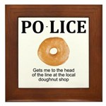My Police thingy Framed Tile