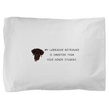 Smart Labrador Retriever Pillow Sham