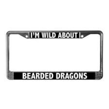 Wild About Bearded Dragons License Plate Frame