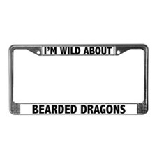 I'm Wild About Bearded Dragons License Plate Frame