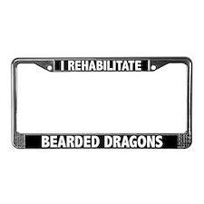 I Rehab Bearded Dragons License Plate Frame