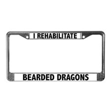 I Rehabilitate Bearded Dragons License Plate Frame