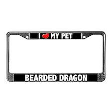 I Heart My Bearded Dragon License Plate Frame
