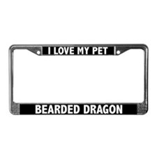 I Love My Bearded Dragon License Plate Frame