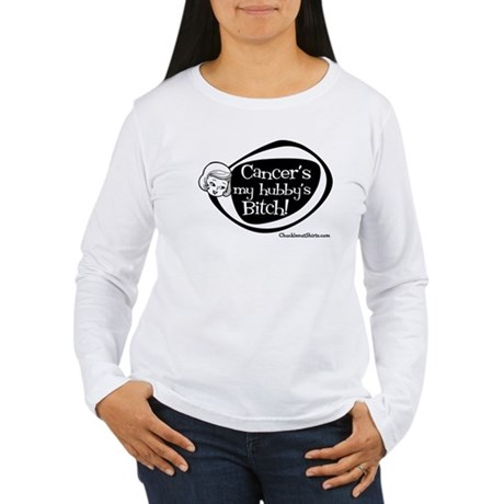 Cancer's my hubby's Bitch Women's Long Sleeve T-Sh