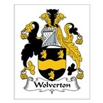 Wolverton Family Crest Small Poster