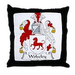 Wolseley Family Crest Throw Pillow
