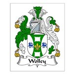 Wolley Family Crest Small Poster