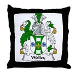 Wolley Family Crest Throw Pillow