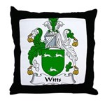 Witts Family Crest Throw Pillow