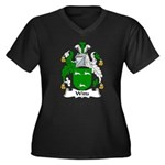 Witts Family Crest Women's Plus Size V-Neck Dark T