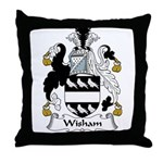 Wisham Family Crest Throw Pillow