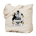 Wisham Family Crest Tote Bag
