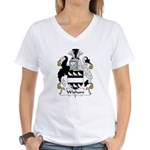 Wisham Family Crest Women's V-Neck T-Shirt