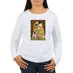 The Kiss / Pug Women's Long Sleeve T-Shirt