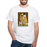 The Kiss / Pug White T-Shirt