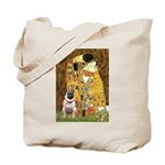 The Kiss / Pug Tote Bag