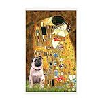 The Kiss / Pug Sticker (Rectangle)