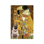 The Kiss / Pug Rectangle Magnet (10 pack)