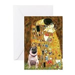 The Kiss / Pug Greeting Cards (Pk of 10)