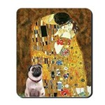 The Kiss / Pug Mousepad