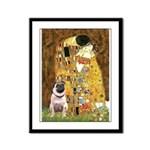 The Kiss / Pug Framed Panel Print