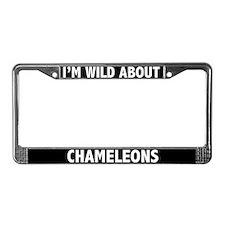 I'm Wild About Chameleons License Plate Frame