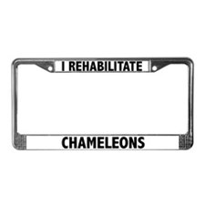 I Rehabilitate Chameleons License Plate Frame