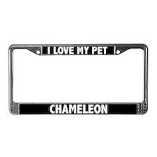 I Love My Pet Chameleon License Plate Frame