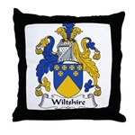 Wiltshire Family Crest Throw Pillow
