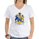 Wiltshire Family Crest Women's V-Neck T-Shirt