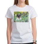 Irises / Pug Women's T-Shirt