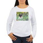 Irises / Pug Women's Long Sleeve T-Shirt
