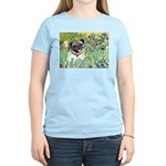 Irises / Pug Women's Light T-Shirt