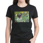 Irises / Pug Women's Dark T-Shirt