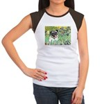Irises / Pug Women's Cap Sleeve T-Shirt