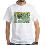 Irises / Pug White T-Shirt