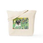 Irises / Pug Tote Bag